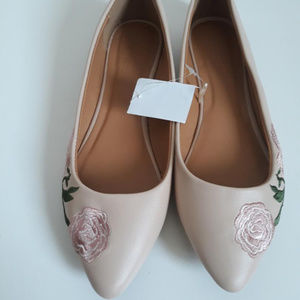 Shoes - Embroidery Flats